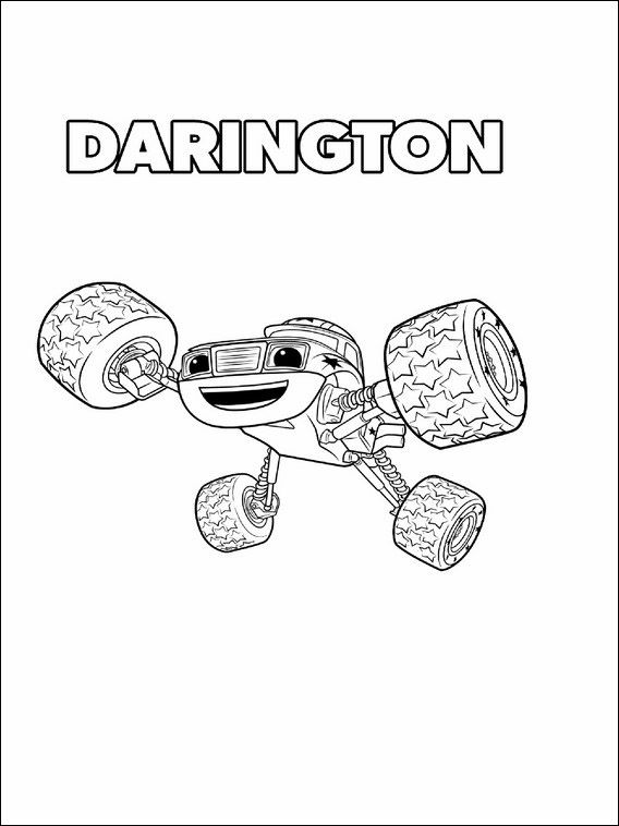 Blaze And The Monster Machines Coloring Pages 6 Blaze Birthday