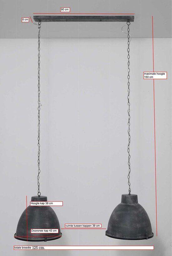Davidi Design Bindi - Hanglamp - 2 Lichts - Grijs