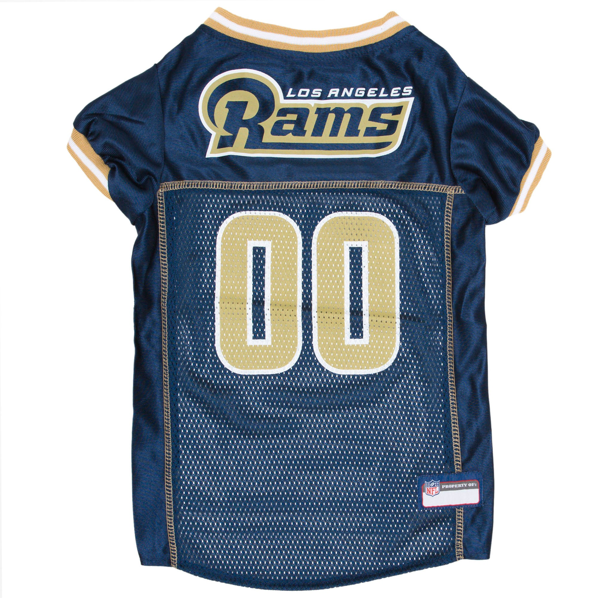 54eac85e3ee Los Angeles Rams Pets First Mesh Pet Football Jersey - Navy Xxl ...