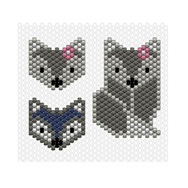 DIY Tissage de perles Miyuki motif renard | Miyuki | Bisuteria ...