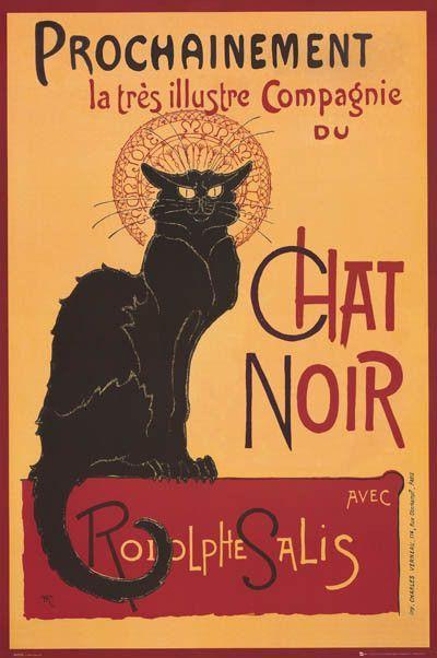 Chat Noir Steinlen Art Poster 24x36 Le Chat Noir Tournee Du Chat Noir Chat Noir