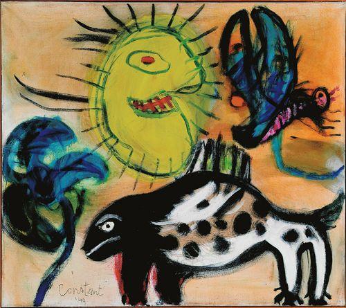 constant / fauna, 1949, cobra museum of art | under their influence