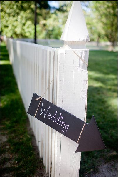 Cardboard for directional signs for wedding.  Why didn't I think of this before?
