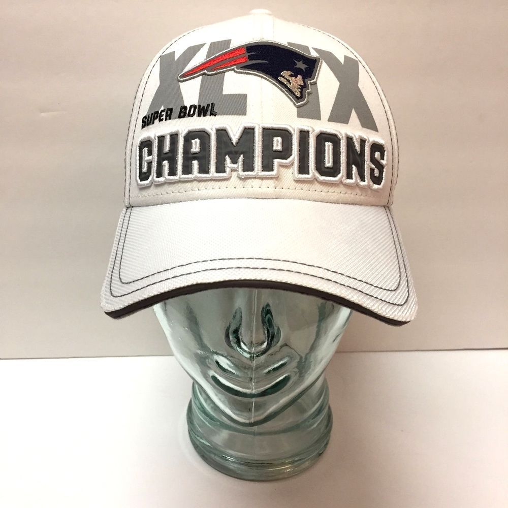 b50074cf4 PATRIOTS Super Bowl XLIX 49 Champions Men s Official Locker Room Hat TOM  BRADY  NewEra  NewEnglandPatriots