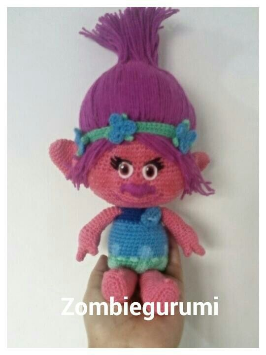 Poppy Trolls Amigurumi Crochet Dolls Poppies Crochet Delectable Trolls Crochet Pattern