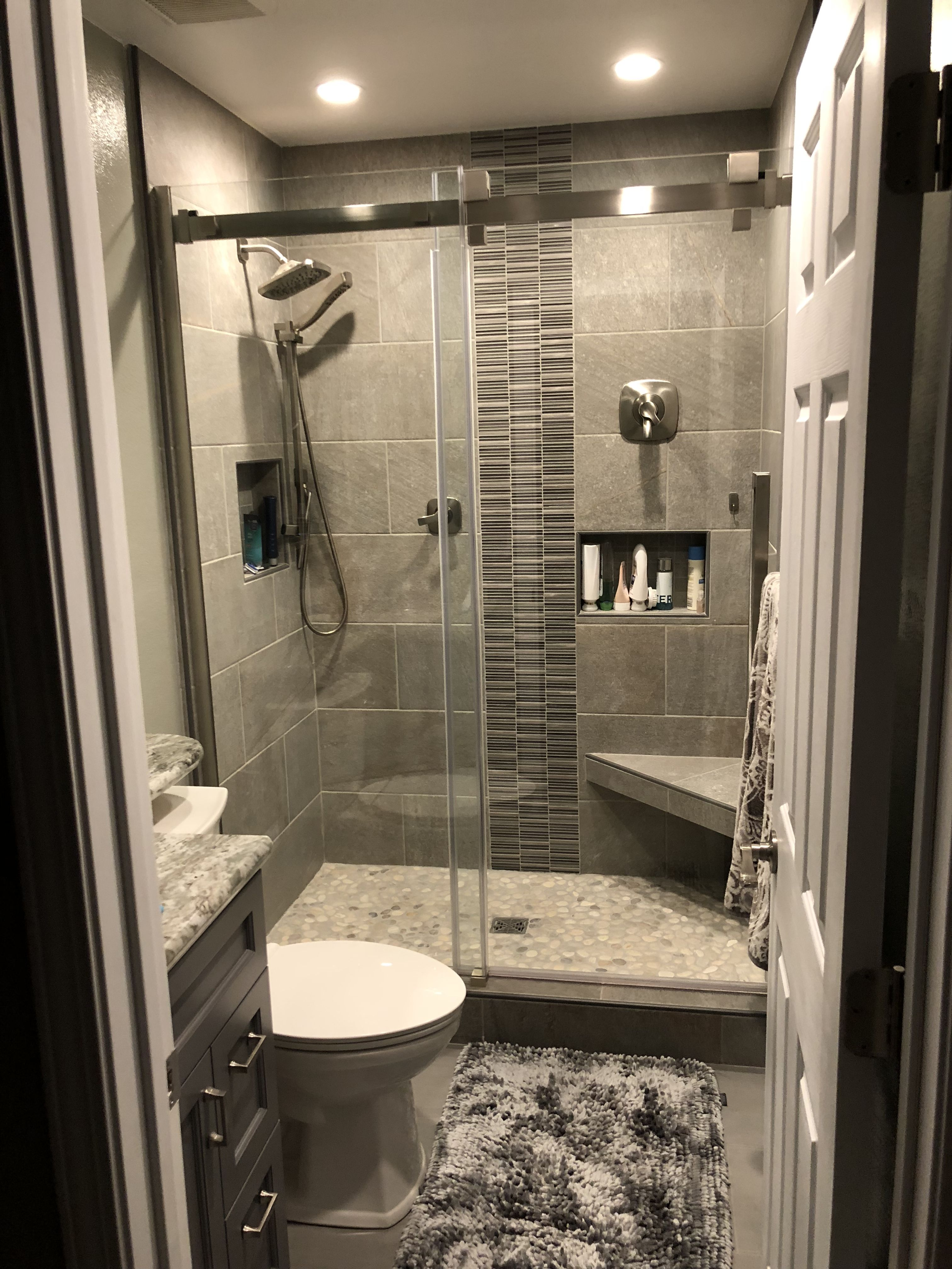 I Completed This Bathroom Using Delta Tesla Faucets In The Shower