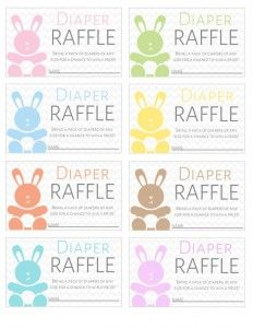 FREE Printable Diaper Raffle Tickets Download