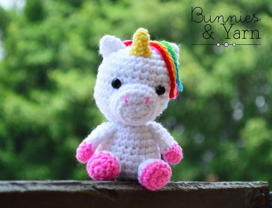 Amigurumi Unicornio Tutorial : Patrón de crochet amigurumi unicornio bebé por bunniesandyarn