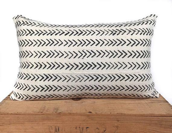 12X20 Pillow Insert Custom Remy White African Mud Cloth Pillow Cover 12X20  African Mud Cloth Inspiration Design