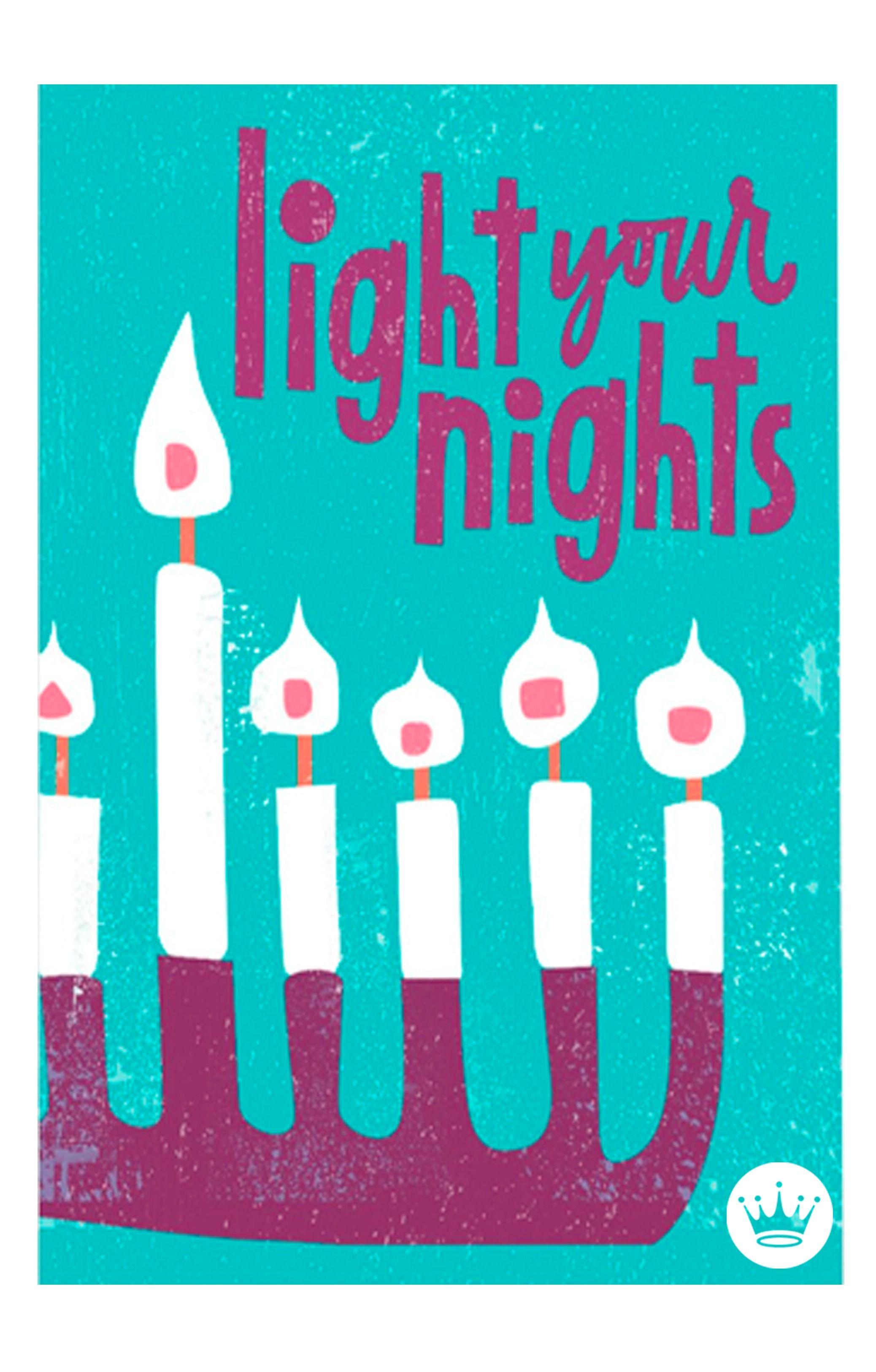 We Love This So Bright Light Your Nights Hallmark Hanukkah Card