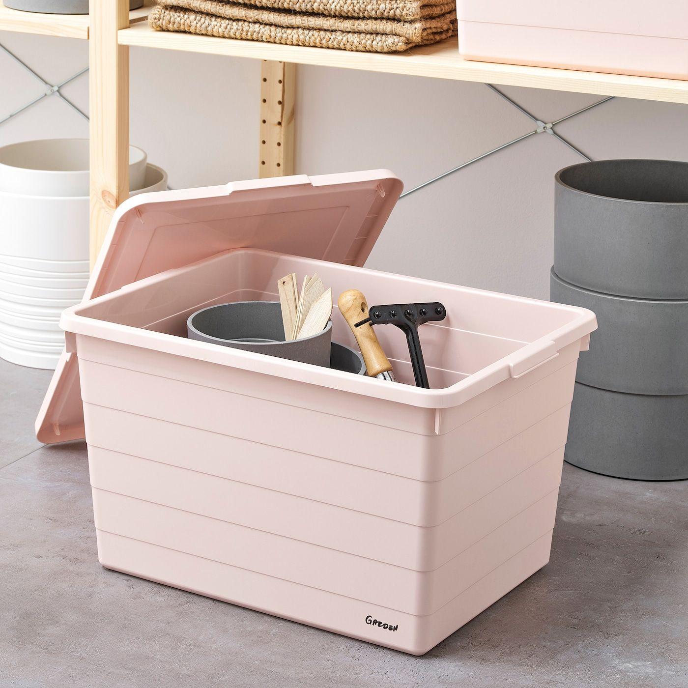 Ikea Sockerbit Box Mit Deckel Rosa In 2020 Box Mit Deckel Bad Aufbewahrungsboxen Box