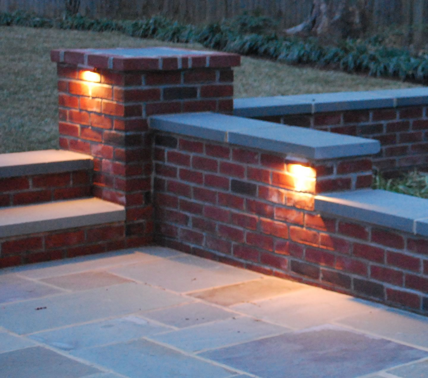Outdoor+brick+walls | Outdoor Lighting « Serene Home And Landscapes