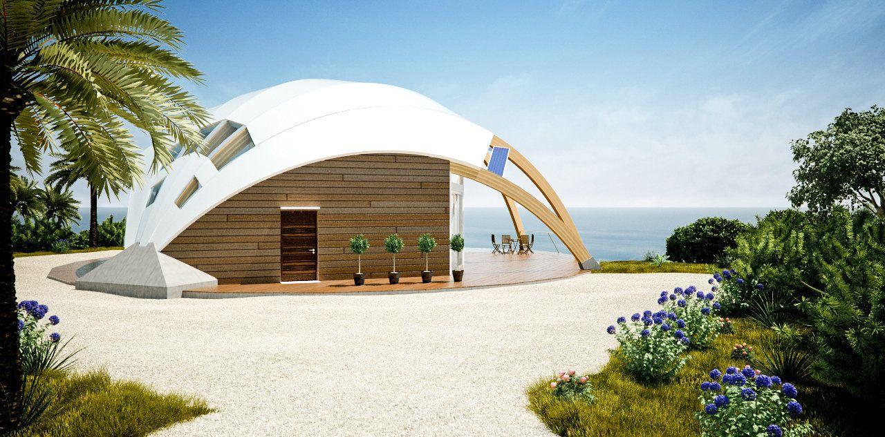 Nessa's house on the beach...greenest!