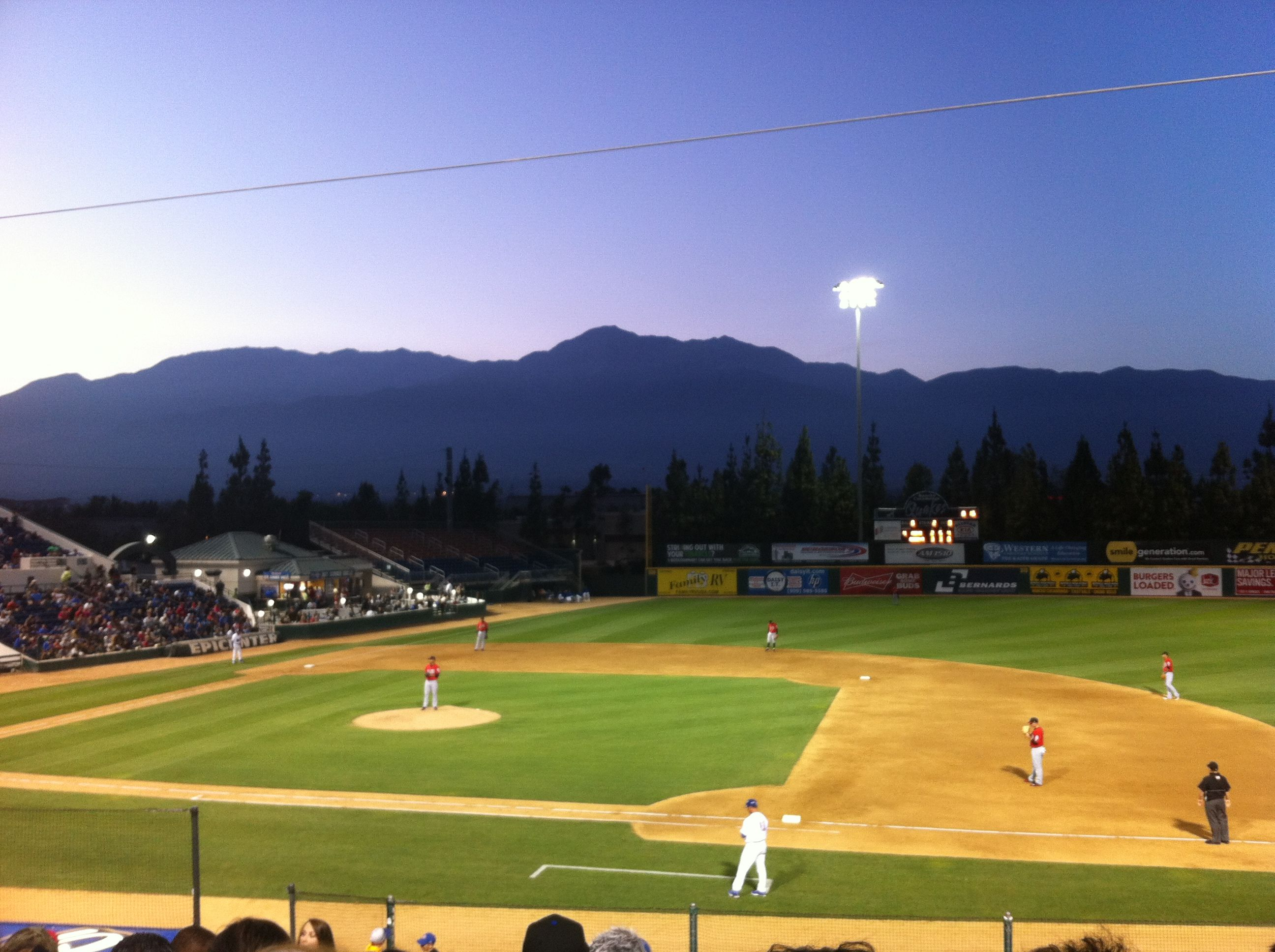 Epicenter With A Beautiful View Rancho Cucamonga Quakes Rancho Cucamonga Quakes Rancho Cucamonga Beautiful Views