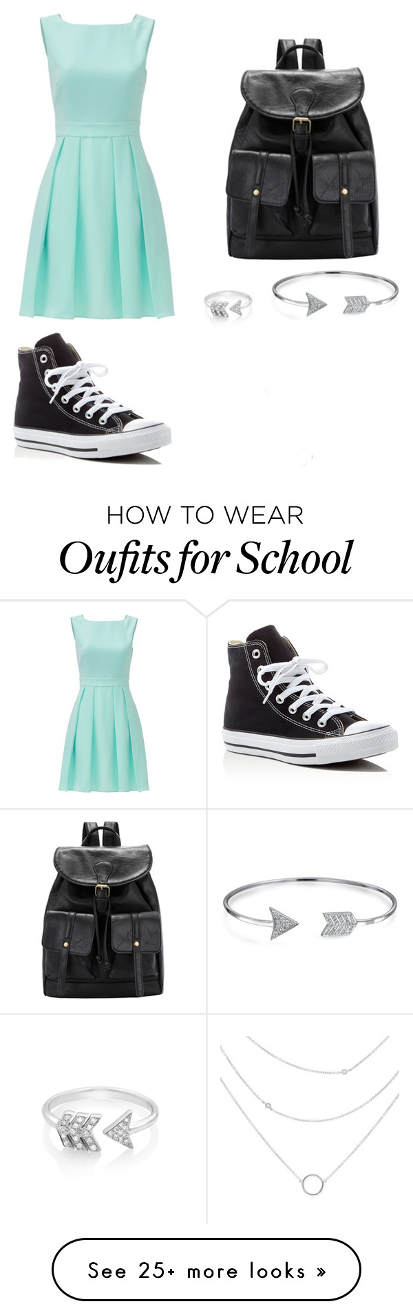 new product 70575 fe7e5 School outfit by zain-mjalli on Polyvore featuring Converse, Kate Spade, EF  Collection