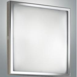 Photo of Fabas LED ceiling light square in chrome 16W 1400 lm warm white Osaka chrome, chrome 3162-66-138