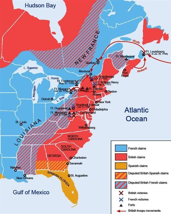 Map Of Colonial America Multi Generational American WIP Idea - Map Of The Us And Britain