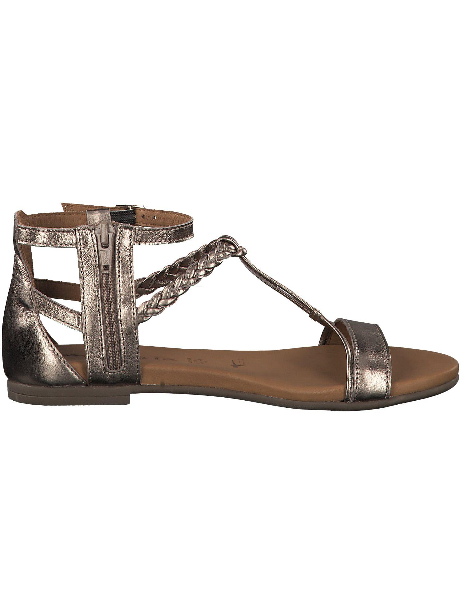 TAMARIS Sandale Damen, Champagner Silber, Größe 42