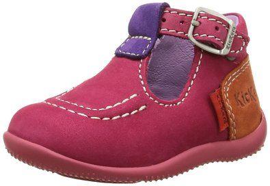 Kickers Bonbek, Chaussures Bébé marche bébé fille, Rose