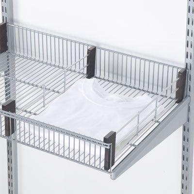 Platinum Walnut Elfa Decor Shelf Basket Dividers