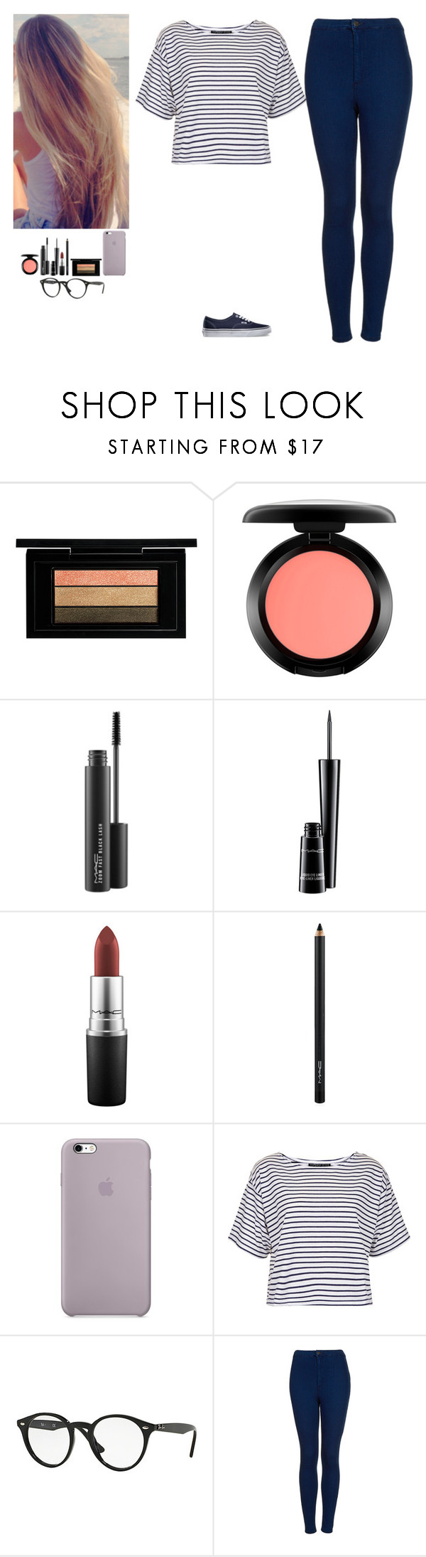 """""""Untitled #135"""" by erin-bittencout on Polyvore featuring moda, MAC Cosmetics, Topshop, Ray-Ban e Vans"""