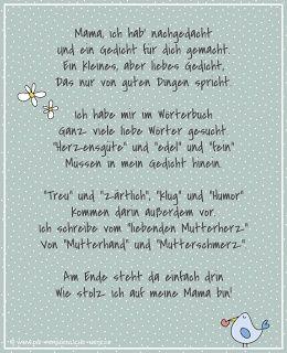 Die Personliche Anmerkung Freebie Muttertagsgedicht Fur Kinder
