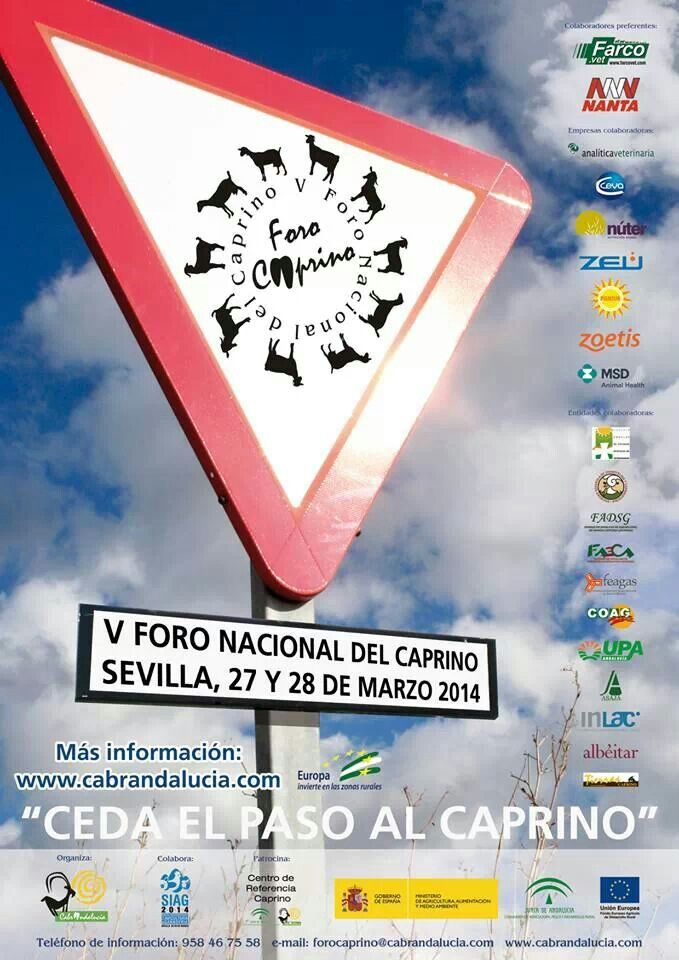 Cartel congreso foro caprino 2014
