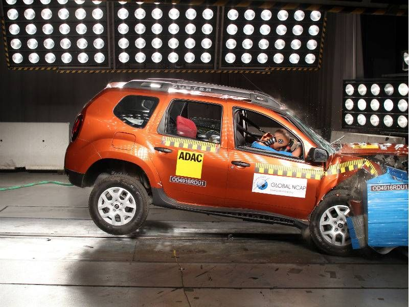 Renault Duster gets zero stars in crash test - Times of India
