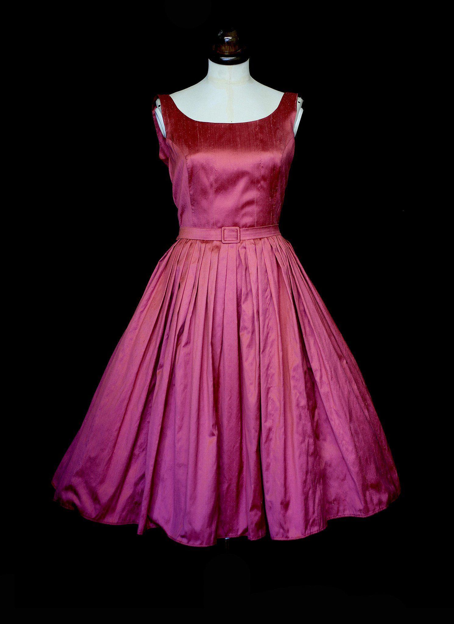4ba156ce9f9234 BETTY Bright Silk Party Dress – ALEXANDRAKING