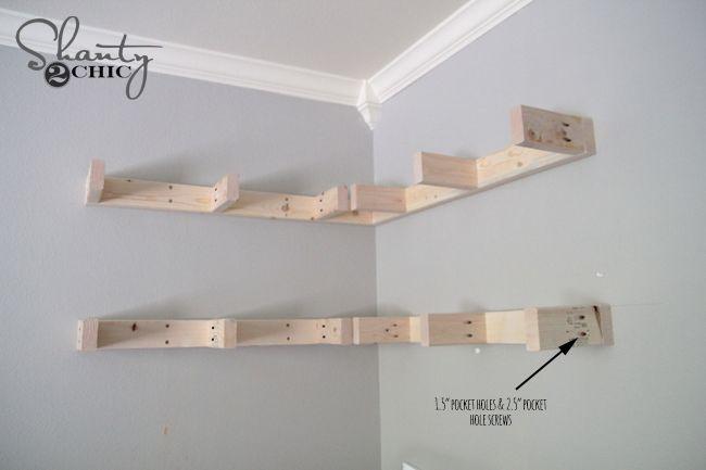 Diy Floating Corner Shelves Floating Shelves Diy Diy Wall