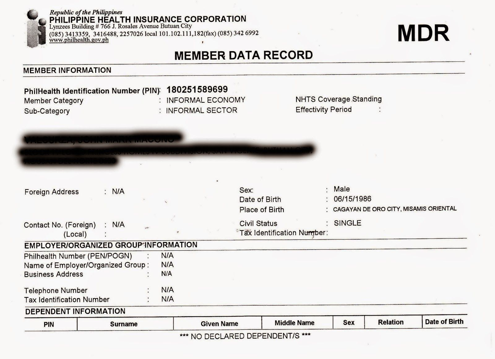 Myphilhealth How Request Mdr Philhealth Sample Authorization