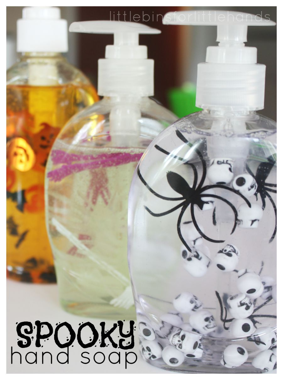 Make Halloween Soap Hand Sanitizer Diy Halloween Decorations