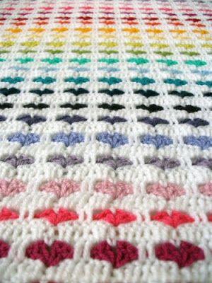 crochet heart pattern - entretejiendo: colchas | Häkeln Herz Crochet ...