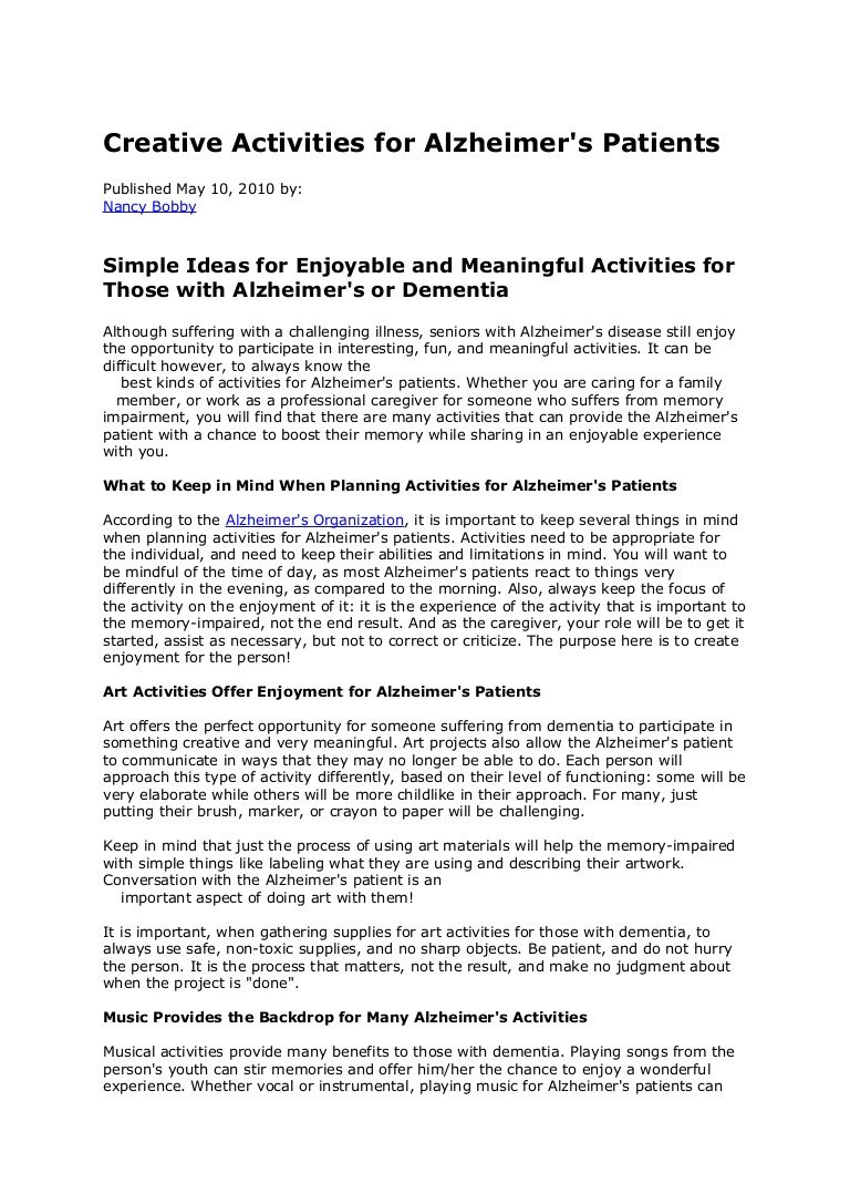 creative-activities-for-alzheimers-4335550 by Senior Helpers In Home ...