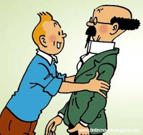 The Adventures of Tintin: The Calculus Affair • Tintin embraces Professor Calculus in a rare display of affectionate emotion for another person • Herge, Tintin et moi