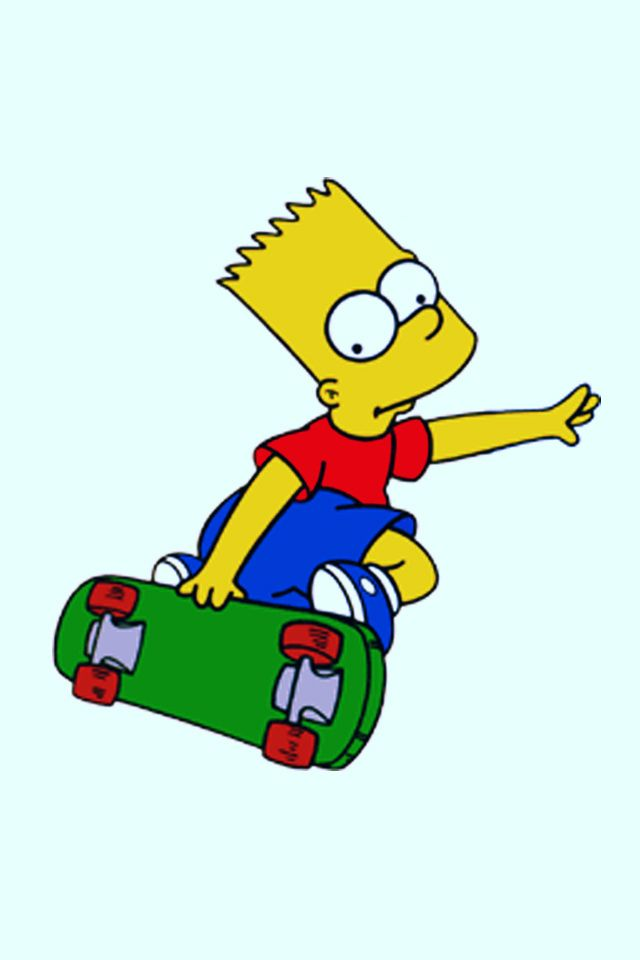 Bart Simpson Skateboarding Cartoon Clip Art Bart Simpson Word