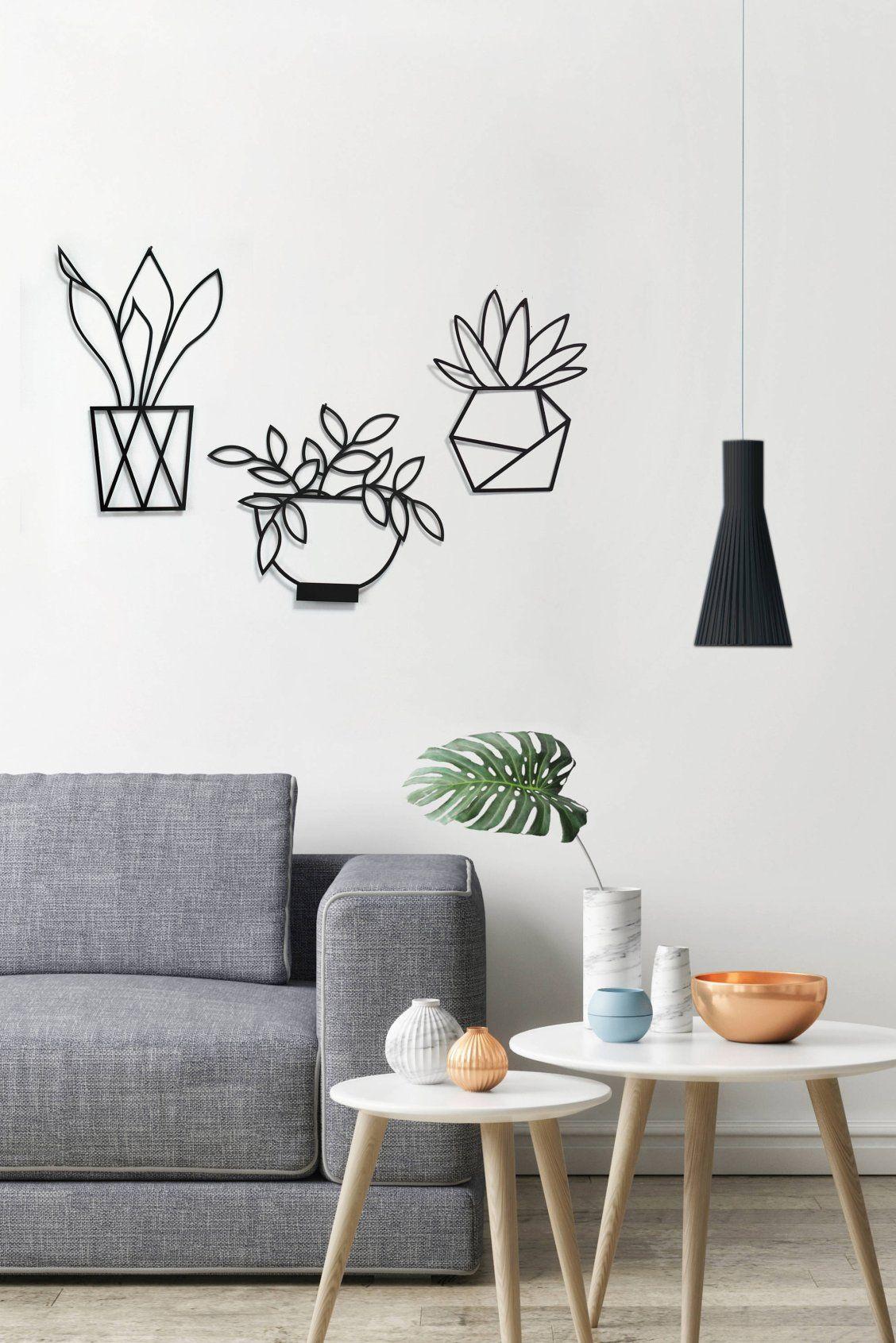 Set of wall art plants wall decor minimalist wall art
