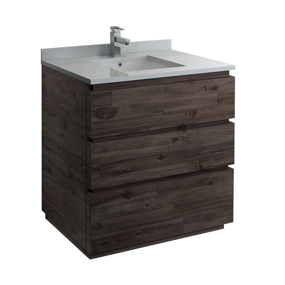 Fresca Formosa 35 In W Modern Vanity Cabinet Only In Warm Gray Products Modern Bathroom Cabinets Modern Vanity Kitchen Bath