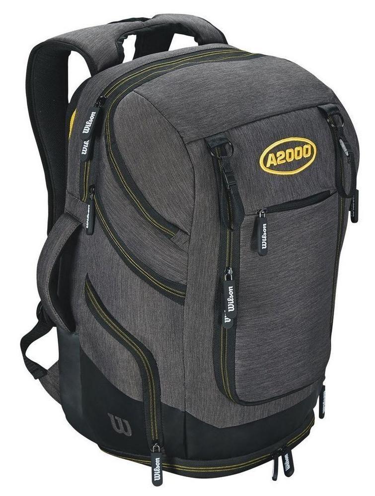 58259616d9bb Wilson A2000 Baseball MLB Bag Charcoal Backpack Batpack Back Pack ...