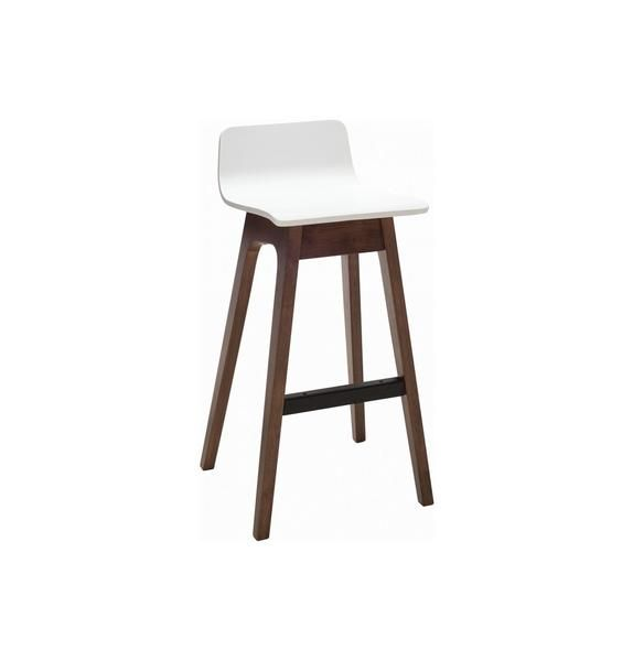 Superb Ava Low Back Bar Stool Walnut White In 2019 Bar Stools Ncnpc Chair Design For Home Ncnpcorg