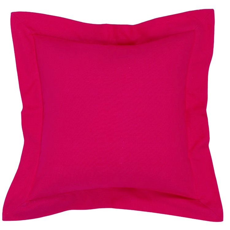 Bright Pink Plain Square Cushion Cover In Yellow Covers Rainbow Bedroom