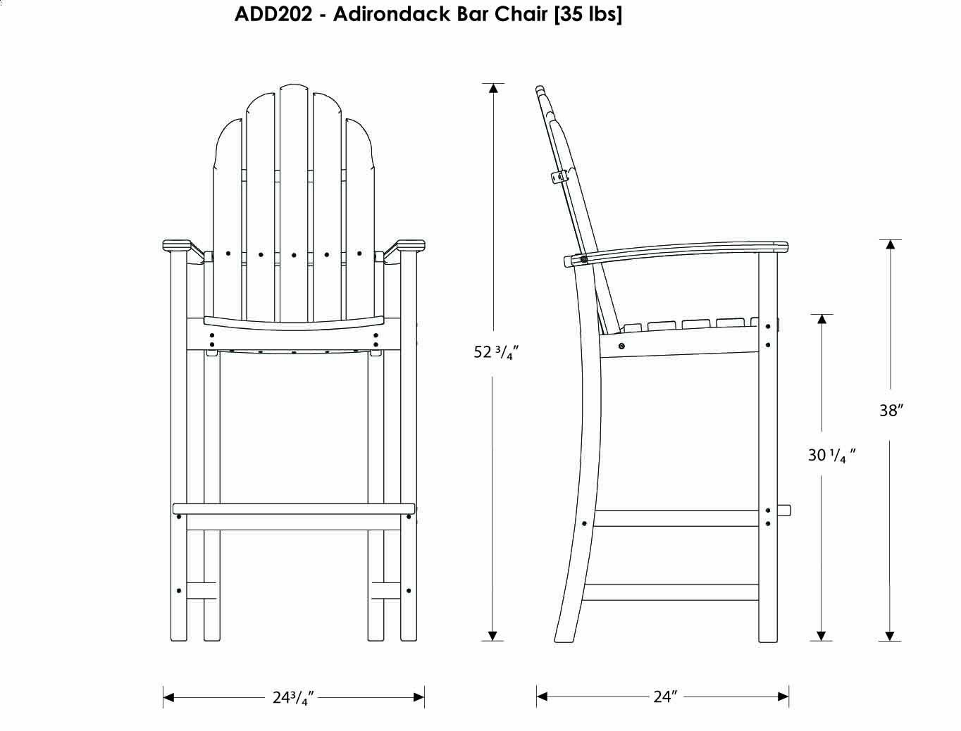 Adirondack Bar Stool Log Furniture Adirondack Chair