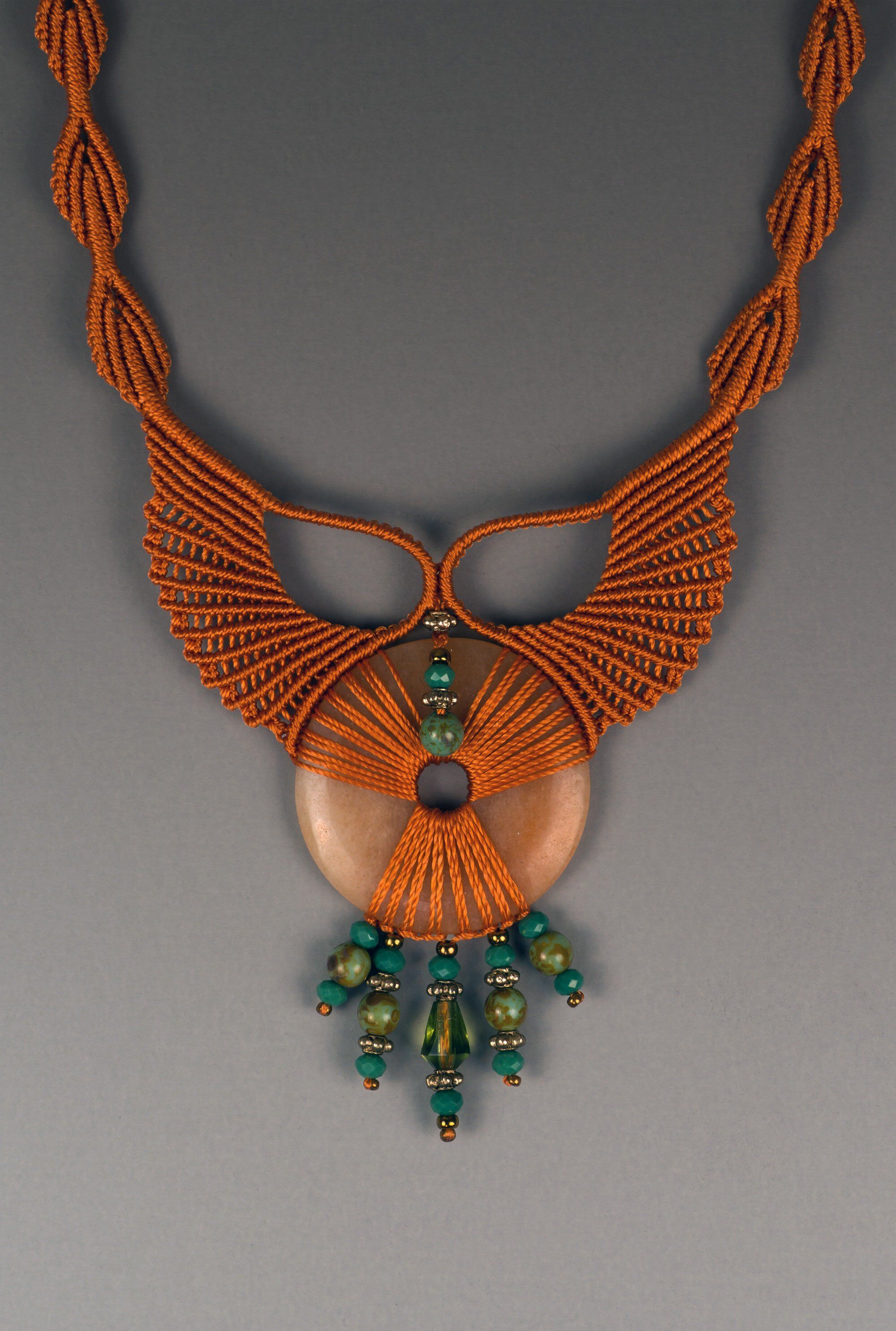 Ivory Statement Necklace Tassel Necklace Festival Macrame Jewelry Fringe Necklace Tribal Ethnic Necklace
