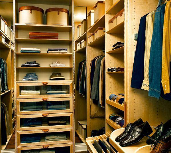 men walk in closet organizer