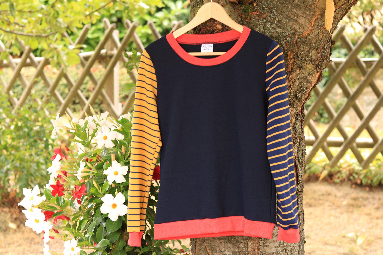 on sale 1a3f5 4da30 Women pullover stripes,handmade sweater, sweatshirt stripes ...