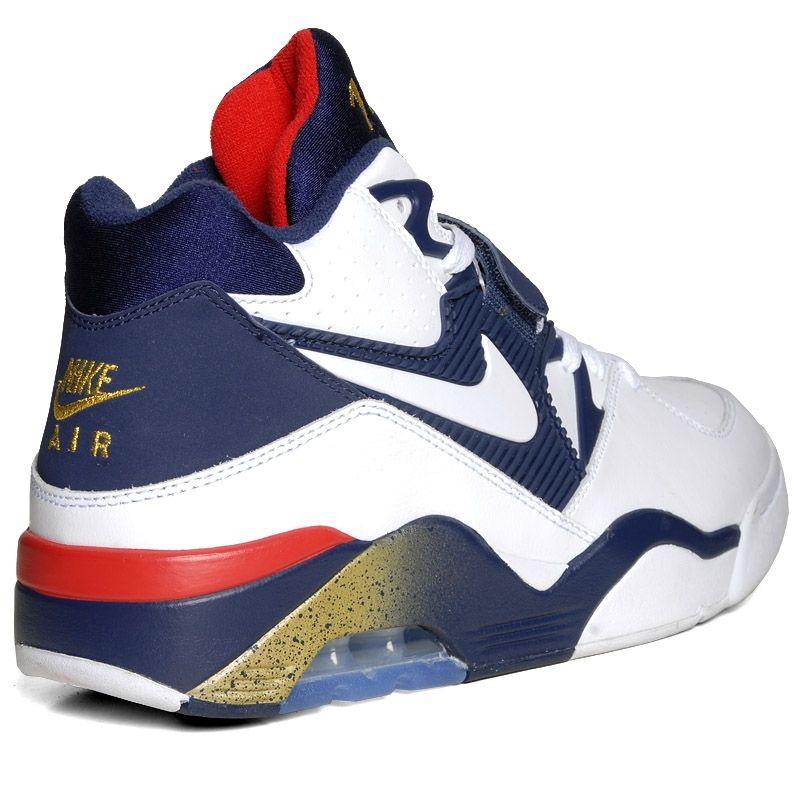 promo code 95852 ebead Nike Air Force 180 Mid Charles Barkley White-Midnight Navy-Metallic Gold