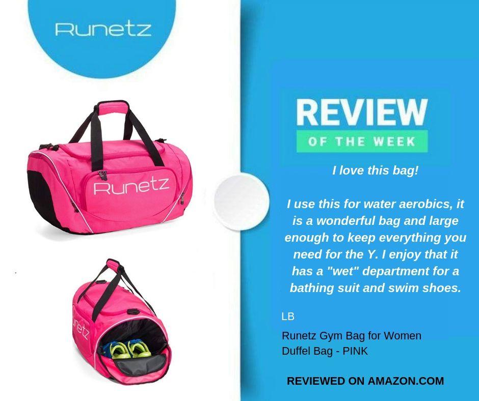 Runetz Gym Bag for Women and Men Duffle Bag with Wet Pocket, Travel Gym Bag   Sports ... 49bf8e82a7