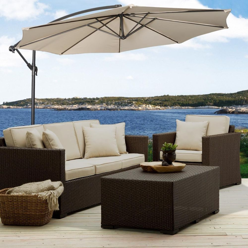 Details About 10 Hanging Umbrella Patio Sun Shade Offset Outdoor