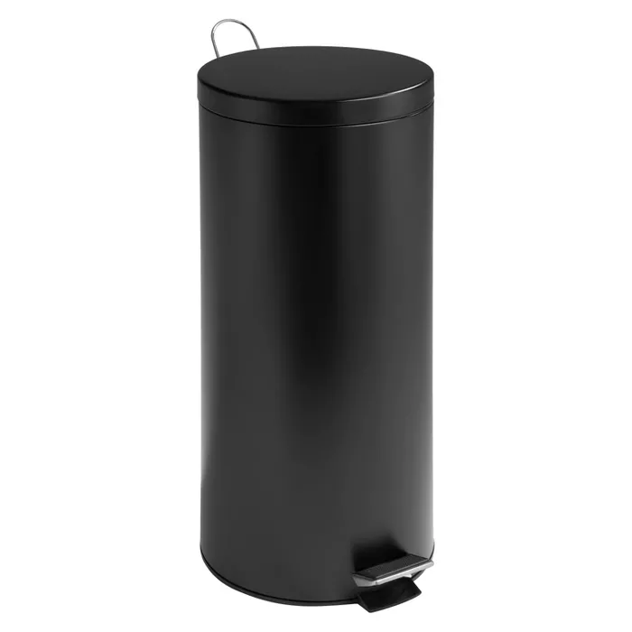Honey Can Do 30 Liter Step Trash Can Black Trash Can How To Clean Metal Metal Steps