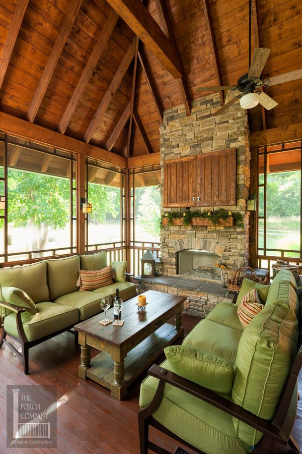 Screened Porch Beautifully Matches Home Screened Porches